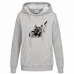 Женская толстовка Байкер на мотоцикле - FatLine