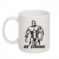 Кружка 320ml Be strong! - FatLine