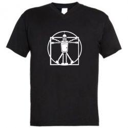 Мужская футболка  с V-образным вырезом Bender Da Vinchi - FatLine