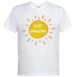 Мужская футболка  с V-образным вырезом Best Grandma