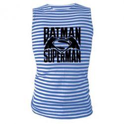 Майка-тельняшка Бэтмен vs. Супермен - FatLine