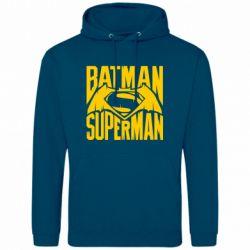 Мужская толстовка Бэтмен vs. Супермен - FatLine