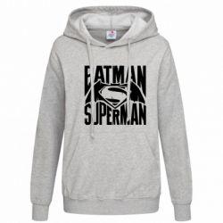 Женская толстовка Бэтмен vs. Супермен - FatLine