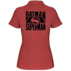 Женская футболка поло Бэтмен vs. Супермен