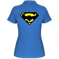 Женская футболка поло БэтСупермен - FatLine