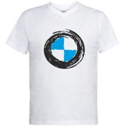 Мужская футболка  с V-образным вырезом BMW Graffity