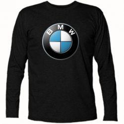 Футболка с длинным рукавом BMW Logo 3D - FatLine