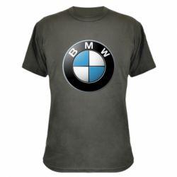 Камуфляжная футболка BMW Logo 3D - FatLine