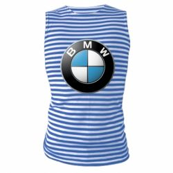 Майка-тельняшка BMW Logo 3D - FatLine