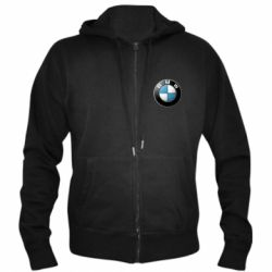 Мужская толстовка на молнии BMW Logo 3D - FatLine