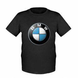 Детская футболка BMW Logo 3D - FatLine
