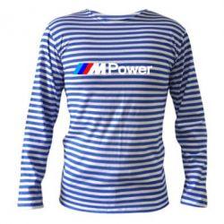 Тельняшка с длинным рукавом BMW M Power logo - FatLine