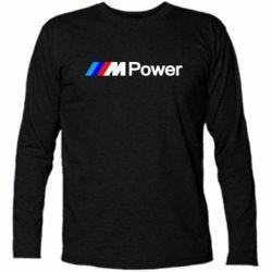Футболка с длинным рукавом BMW M Power logo - FatLine
