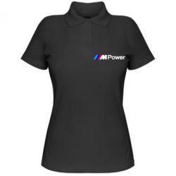 Женская футболка поло BMW M Power logo - FatLine