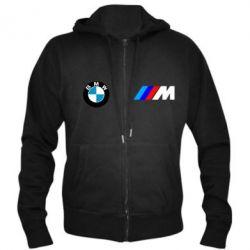 Мужская толстовка на молнии BMW M - FatLine