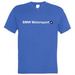 Мужская футболка  с V-образным вырезом BMW Motorsport - FatLine