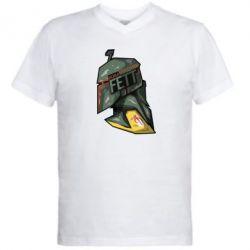 Мужская футболка  с V-образным вырезом Boba Fett - FatLine