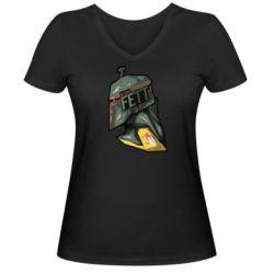 Женская футболка с V-образным вырезом Boba Fett - FatLine