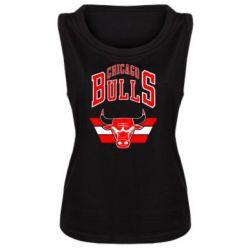 Женская майка Большой логотип Chicago Bulls - FatLine