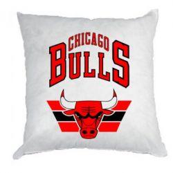 Подушка Большой логотип Chicago Bulls - FatLine