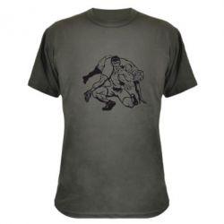 Камуфляжная футболка Борцы - FatLine