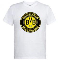 Мужская футболка  с V-образным вырезом Borussia Dortmund - FatLine