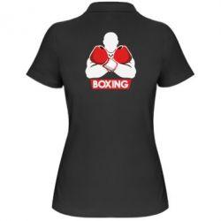Женская футболка поло Box Fighter - FatLine
