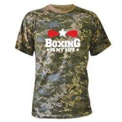 Камуфляжная футболка Boxing is my life