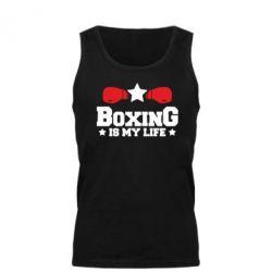Мужская майка Boxing is my life