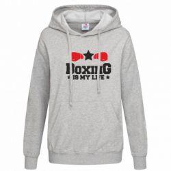 Женская толстовка Boxing is my life