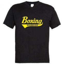 Мужская футболка  с V-образным вырезом Boxing Warrior