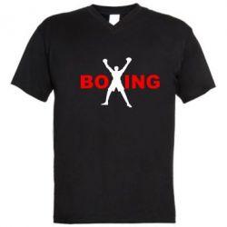 Мужская футболка  с V-образным вырезом BoXing X - FatLine