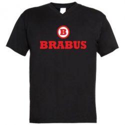 Мужская футболка  с V-образным вырезом Brabus - FatLine