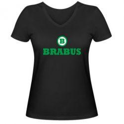 Женская футболка с V-образным вырезом Brabus - FatLine