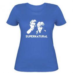 Женская футболка Братья Винчестеры Сверхъестественное - FatLine
