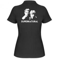 Женская футболка поло Братья Винчестеры Сверхъестественное - FatLine