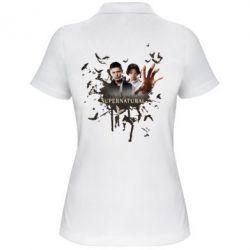 Женская футболка поло Братья - FatLine