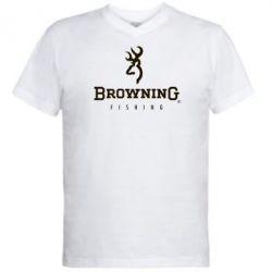 Мужская футболка  с V-образным вырезом Browning - FatLine