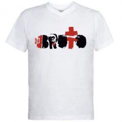 Мужская футболка  с V-образным вырезом Брутто - FatLine