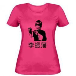 Жіноча футболка Брюс лі - FatLine