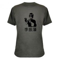 Камуфляжная футболка Брюс ли - FatLine