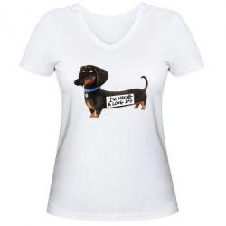 Женская футболка с V-образным вырезом Buddy - FatLine