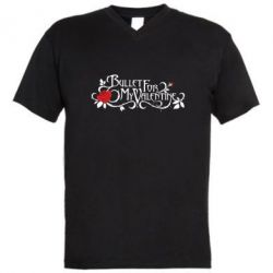 Мужская футболка  с V-образным вырезом Bullet For My Valentine - FatLine