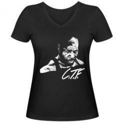 Женская футболка с V-образным вырезом C.T.F. - FatLine