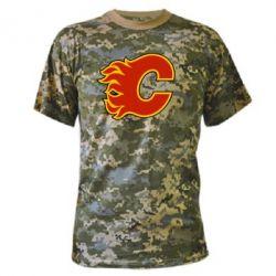 Камуфляжная футболка Calgary Flames - FatLine
