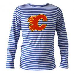 Тельняшка с длинным рукавом Calgary Flames - FatLine