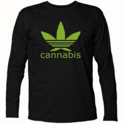 Футболка с длинным рукавом Cannabis - FatLine