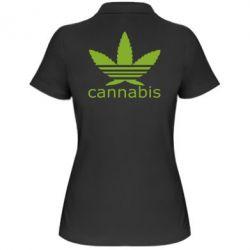 Женская футболка поло Cannabis - FatLine