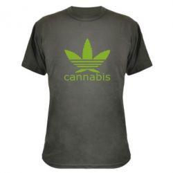 Камуфляжная футболка Cannabis - FatLine