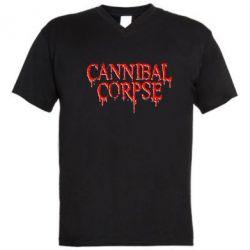 Мужская футболка  с V-образным вырезом Cannibal Corpse - FatLine